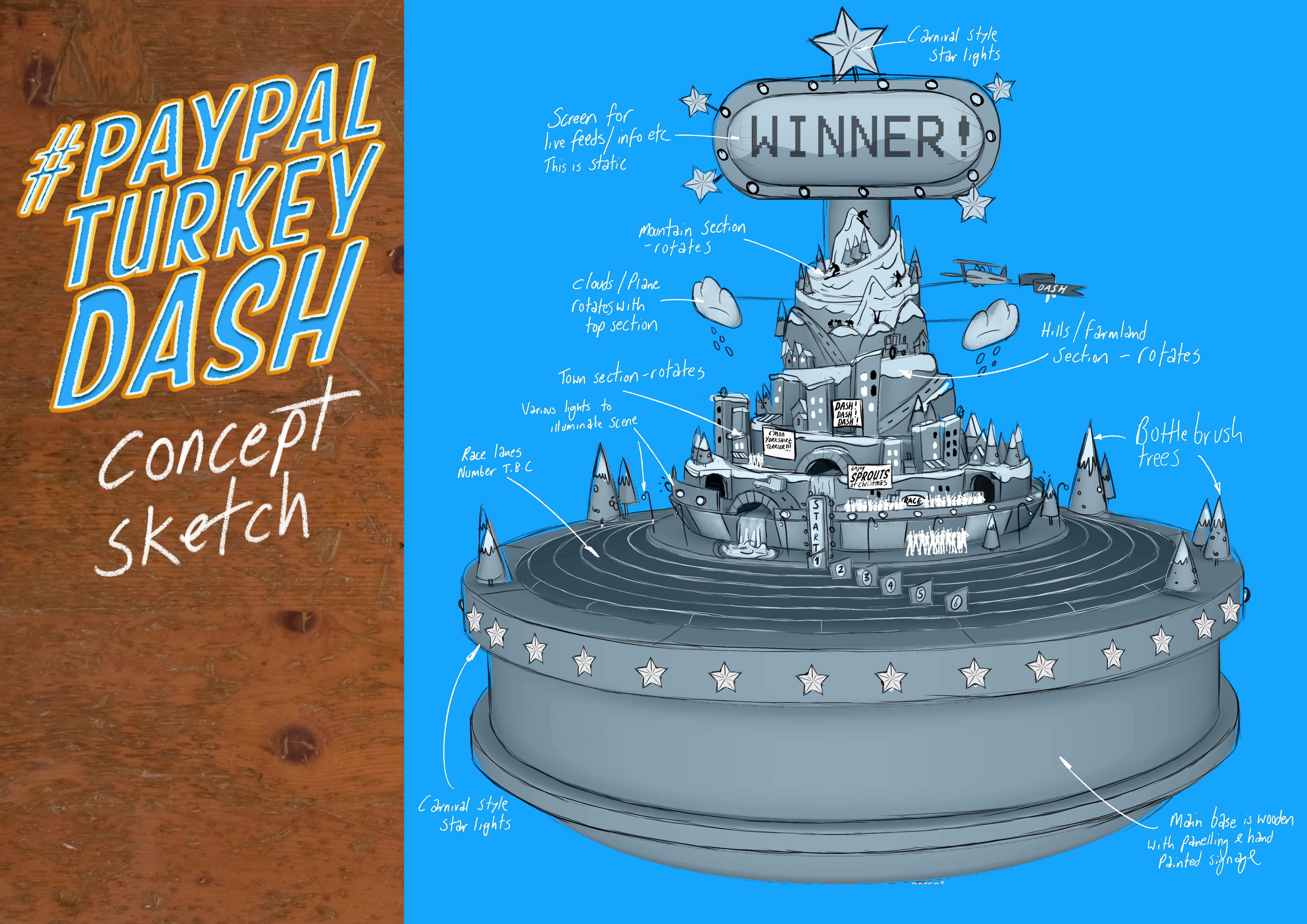 Paypal Turkey Dash concept art