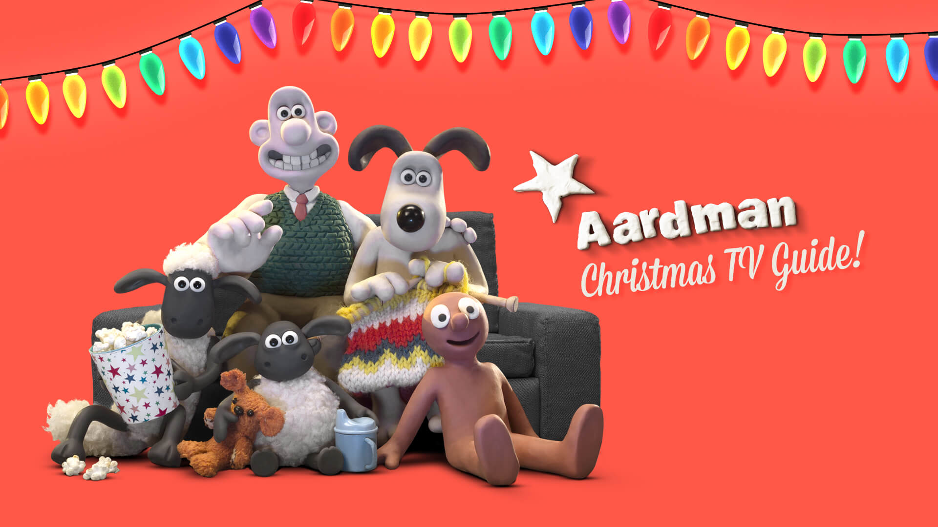 Aardman Christmas TV guide 2020