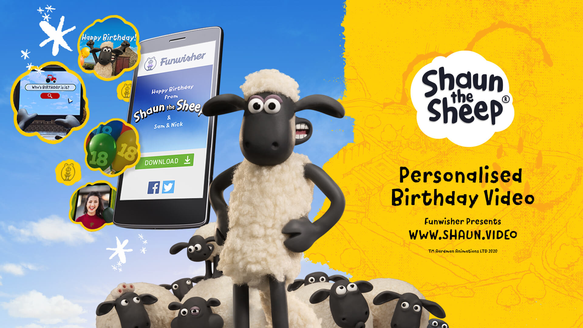 Fushwisher Shaun the Sheep birthday wishes