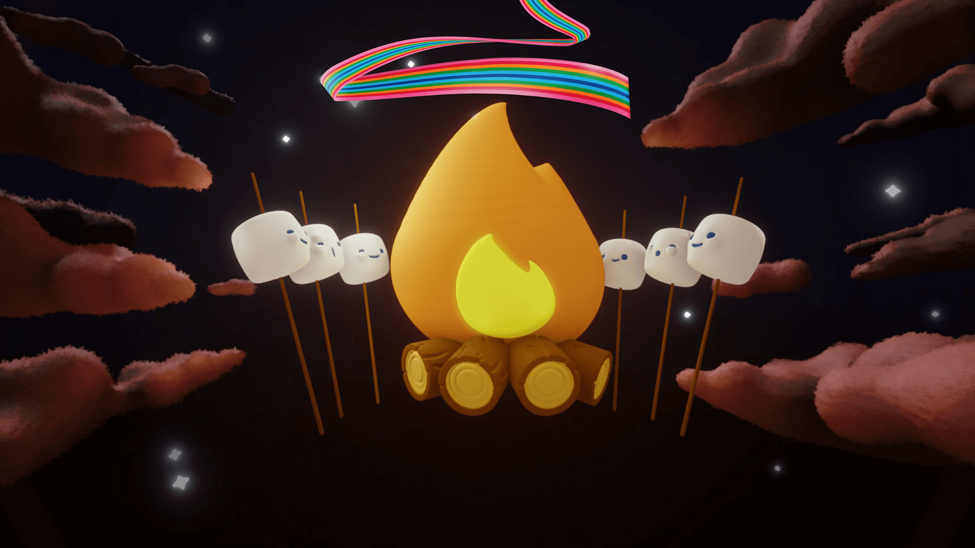 Jet-Puffed Marshmallows concept art animated commercial
