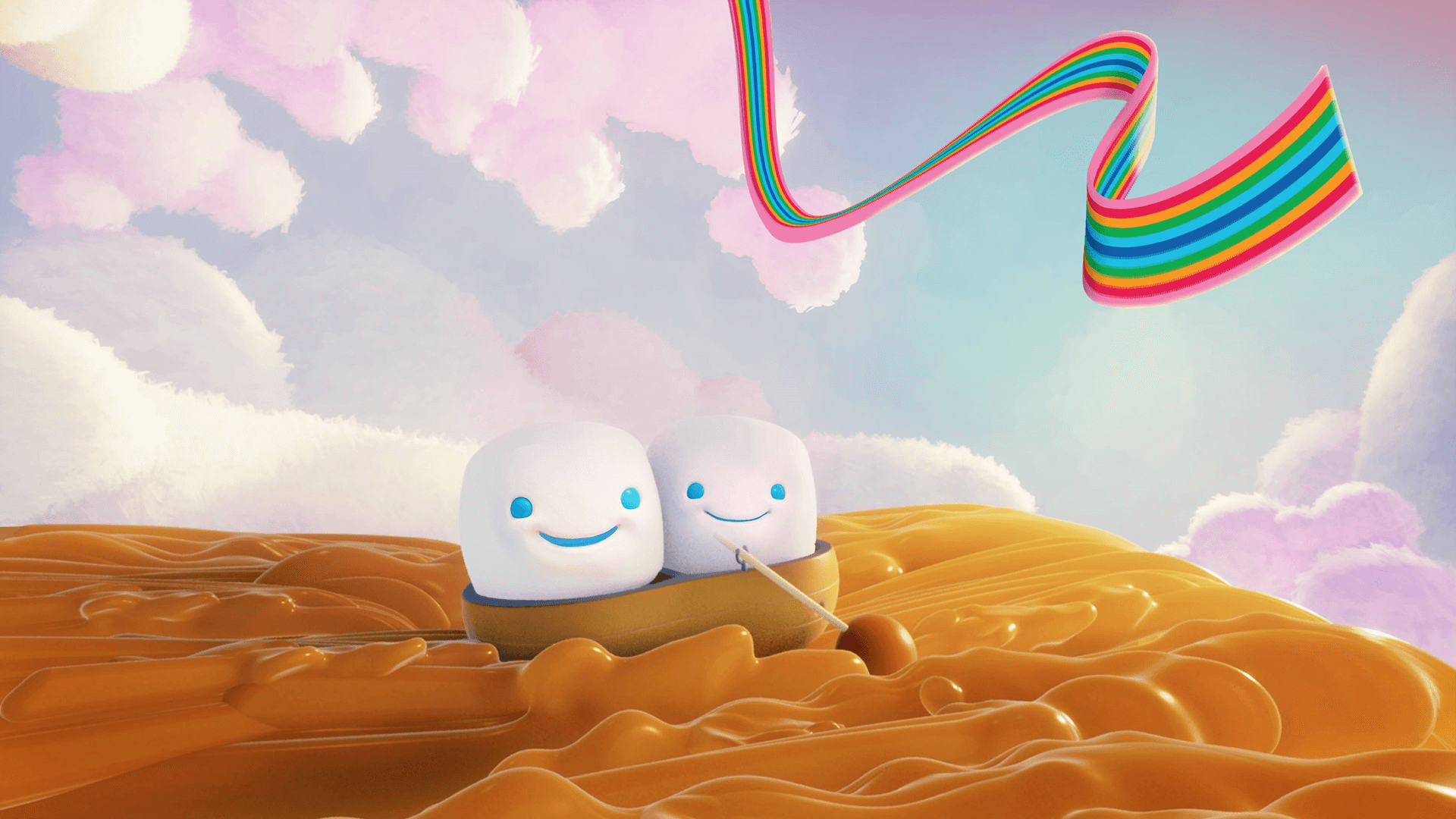 Jet-Puffed Marshmallows animated commercial concept art