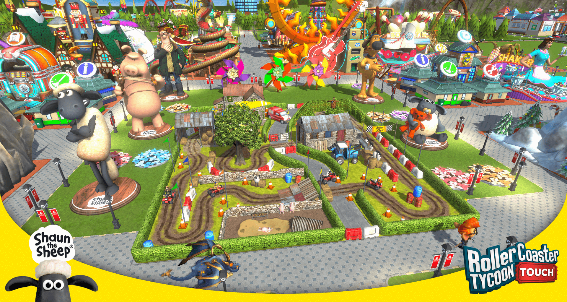 Shaun the Sheep x Roller Coaster Tycoon Touch